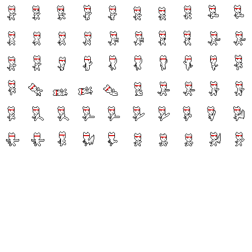 cat sprite sheet png