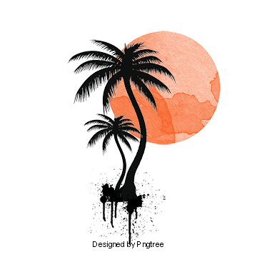 Palm tree sun png. Vectors psd and clipart