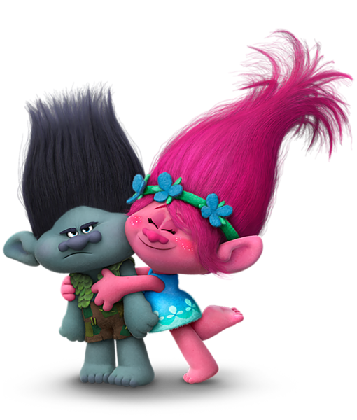 Animated png. Trolls branch and poppy