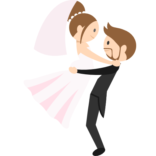 Animated png image. Wedding couple free people