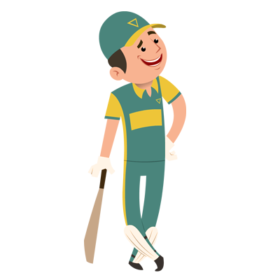 Animated png image. Introducing sports characters with