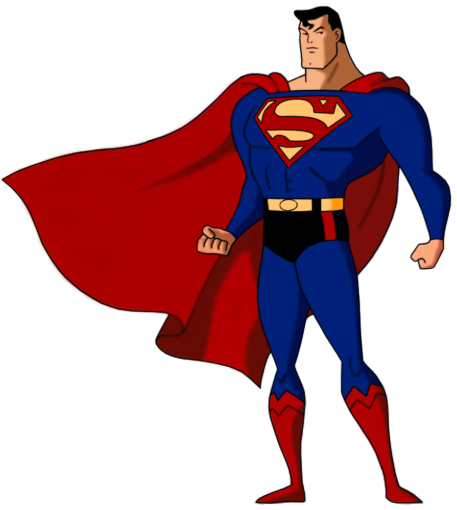 Superman cartoon png. Image animated death battle