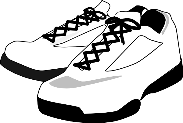 Shoe art png. Running shoes clip at