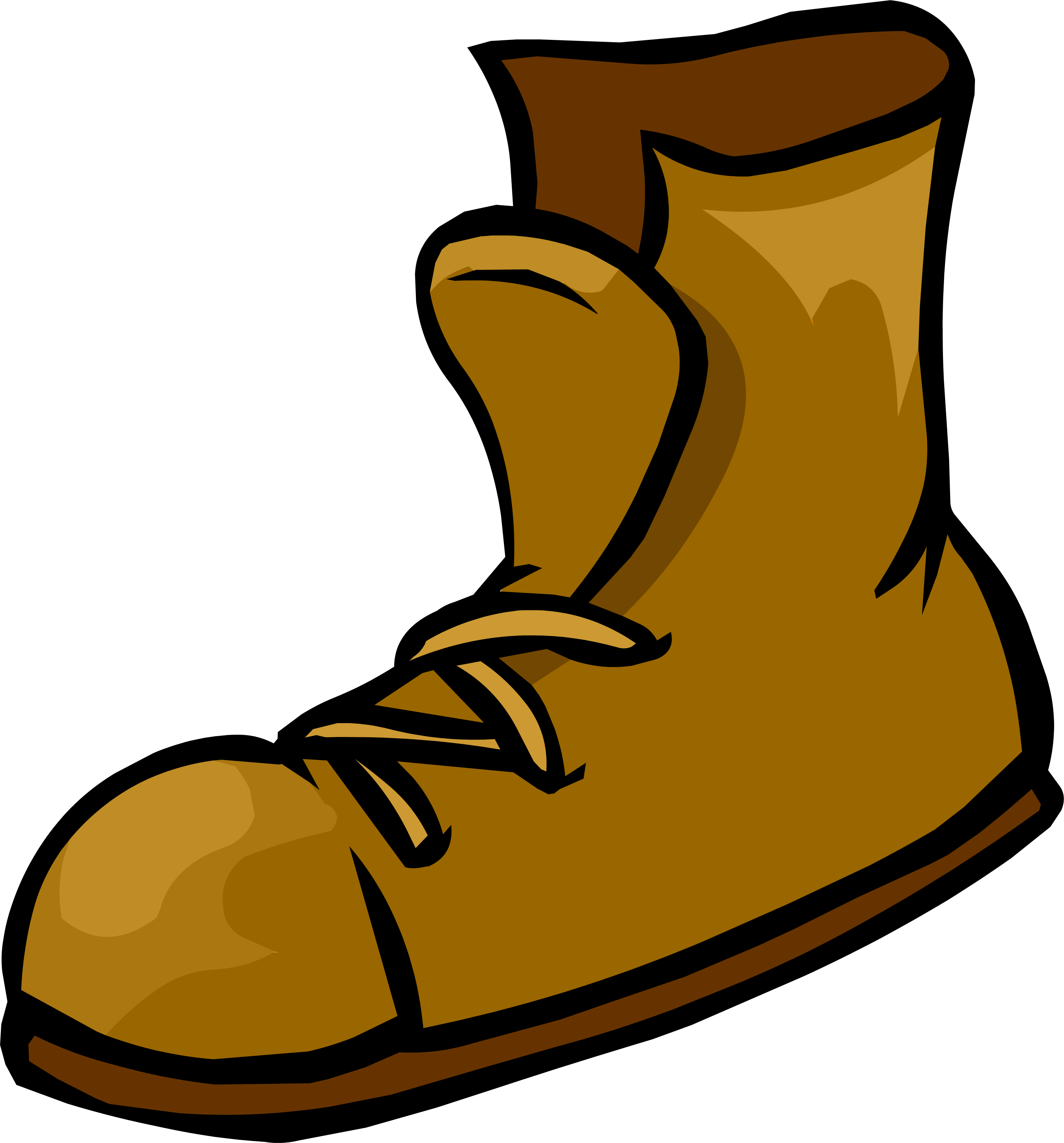 Image png club penguin. Transparent boot shoe svg free library