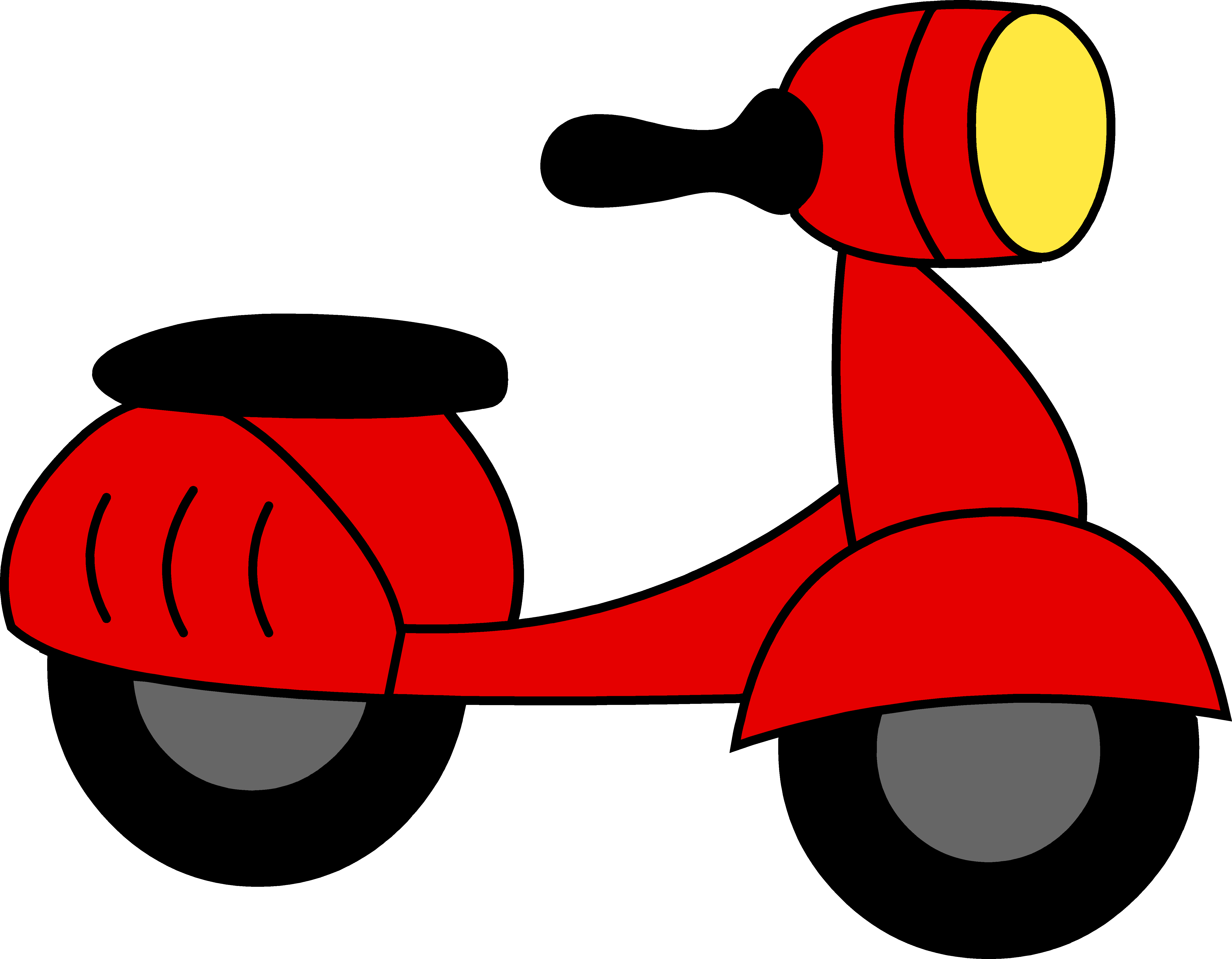 Animation svg scooter. Graphic transparent stock