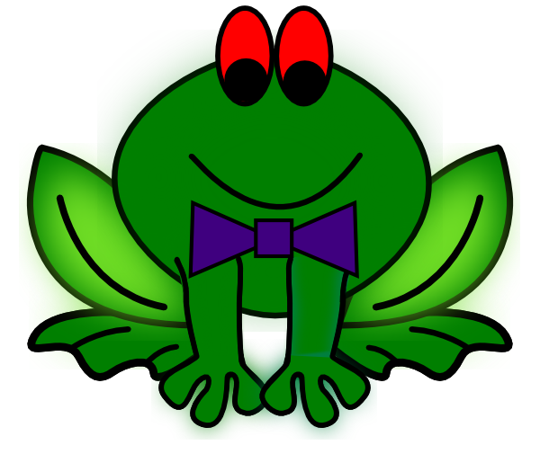 Animation svg toad. Frog and png