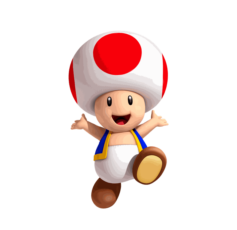 Toad transparent little. Play nintendo