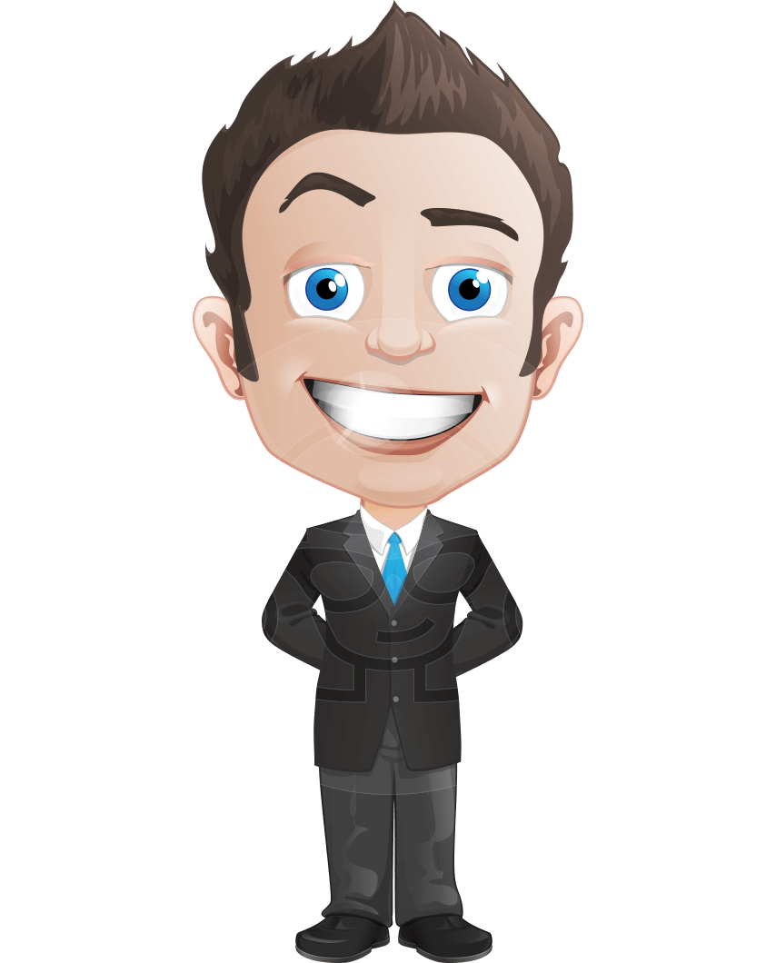 Animation vector business man. Businessman clip art
