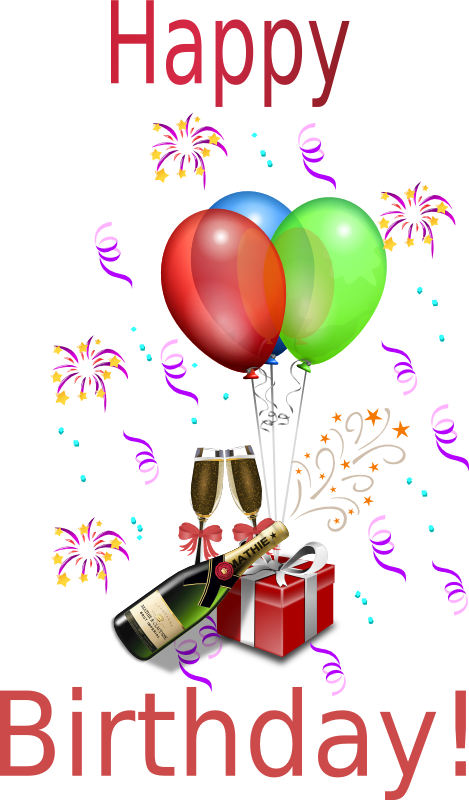 Animation vector celebration. Free birthday clipart animations