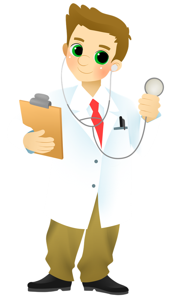 Medicine vector cartoon. Family doctors physicians and