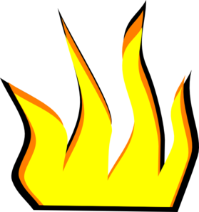 Animation vector fire. Cartoon clip art at