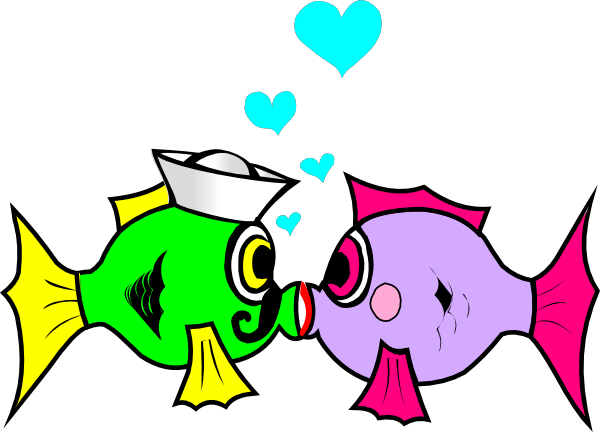 Kiss clipart woman kiss. Sailor fish clip art