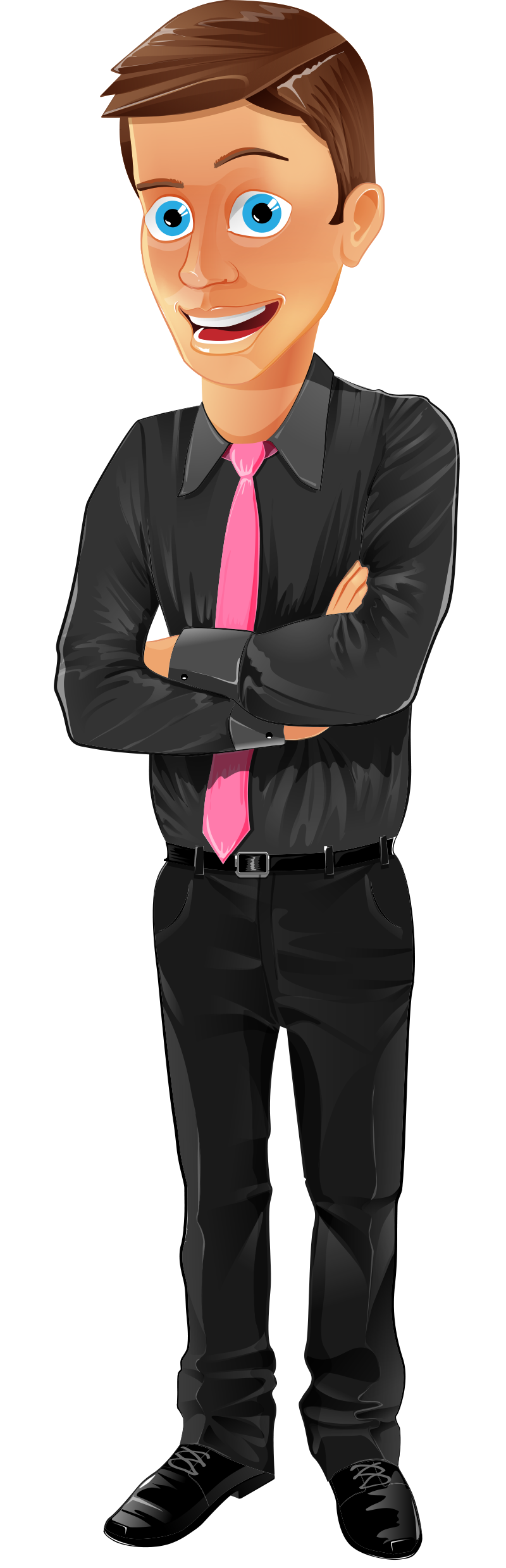 Animation vector formal. Office assistant character http