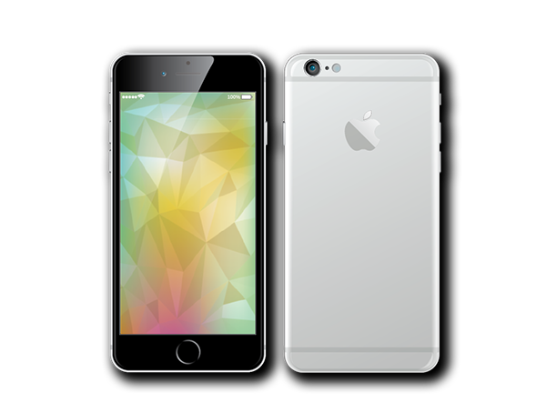 Animation vector iphone. Mockup ai eps on