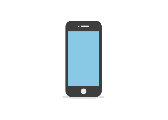 Animation vector iphone. Flat idevices and gif