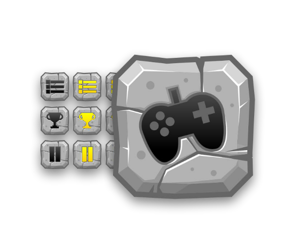 Scifi vector game ui. Gui collection stone age