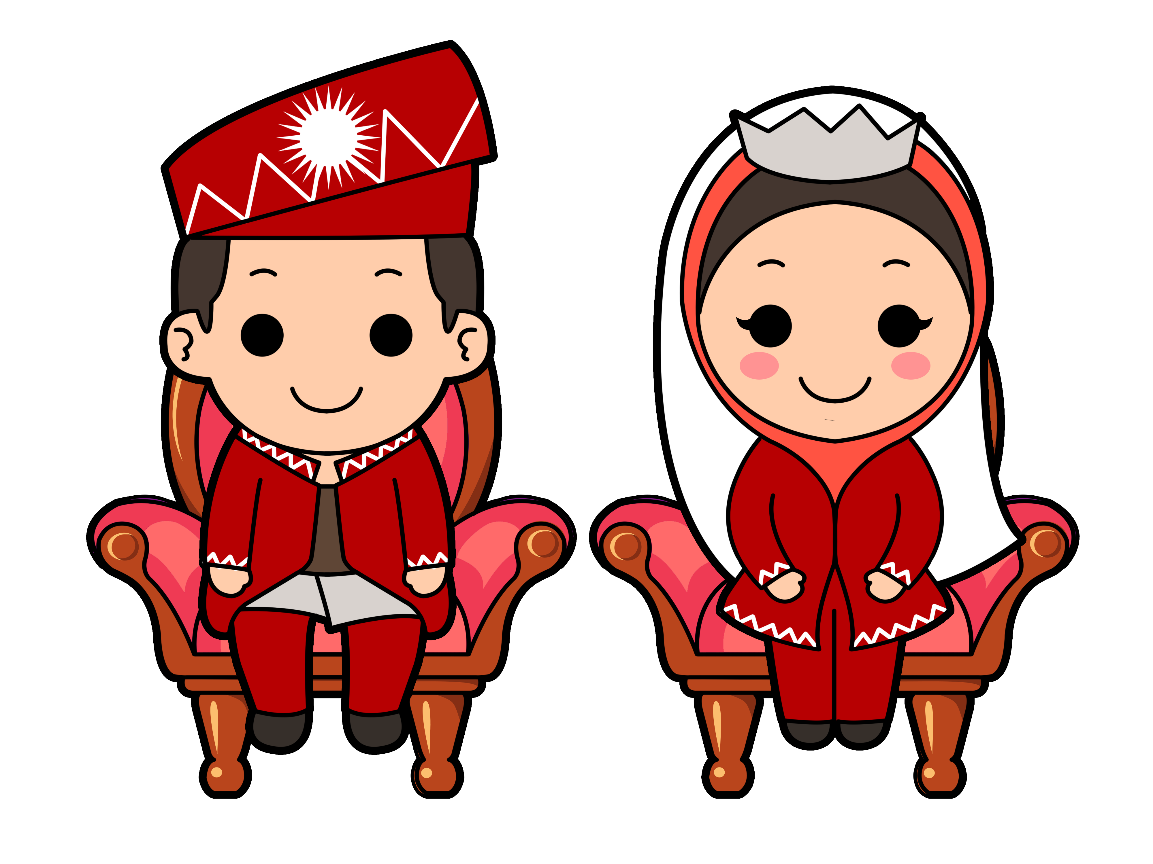 Wedding Couple Cartoon Transparent & PNG Clipart Free Download - YA