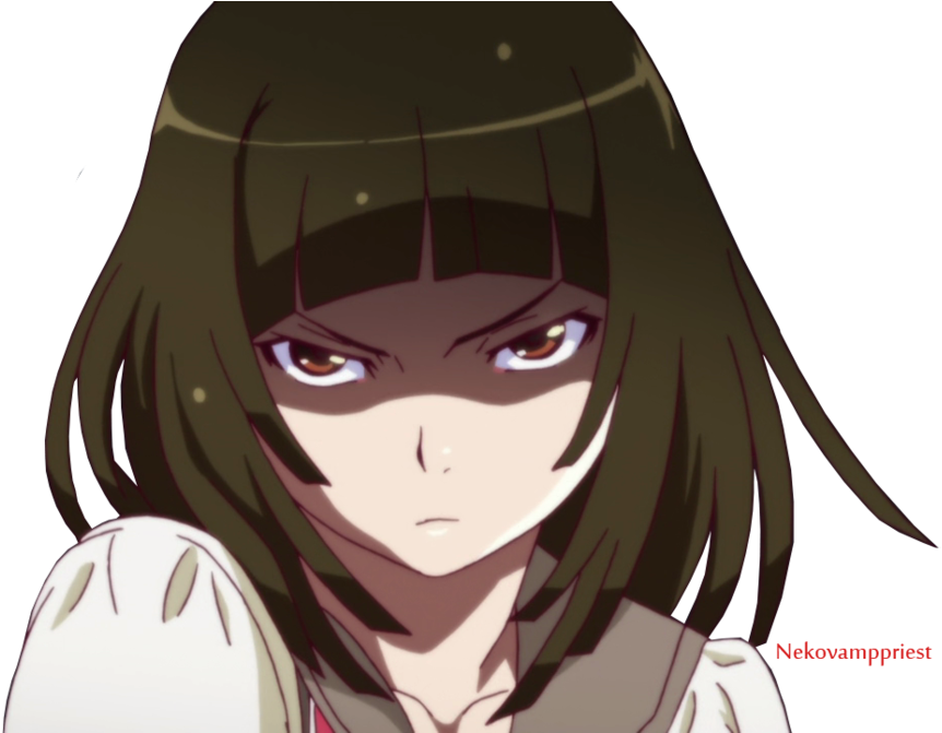 Angry anime png. Download nadeko transparent by
