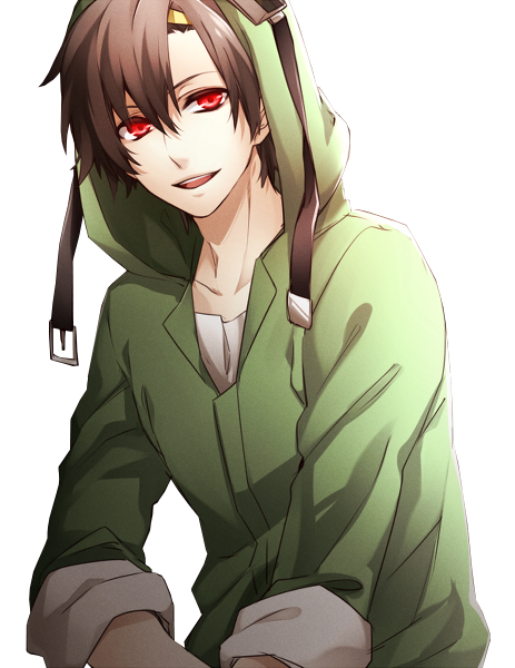 Anime boy hoodie png. Guy im green hot
