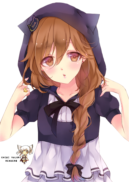 Anime boy hoodie png. Cute girl with google
