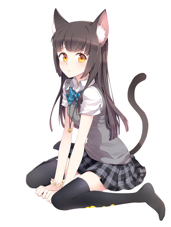 Free icons and backgrounds. Anime cat girl png vector free download