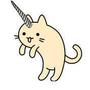 Anime cat png. Unicorn cute cartoon kitty