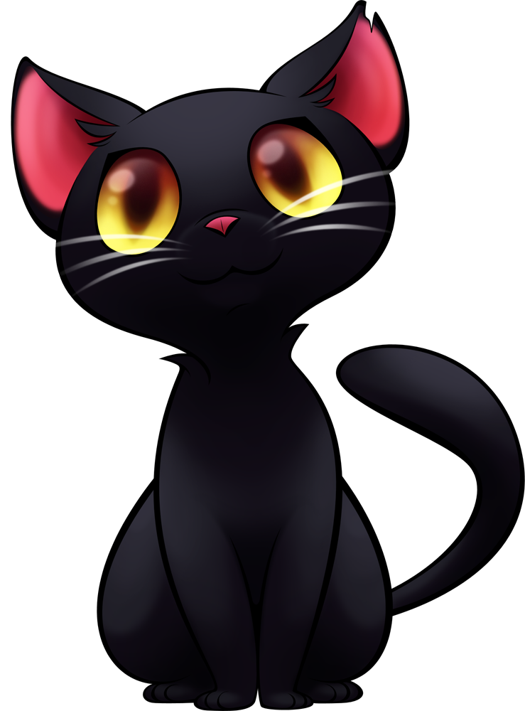 Anime cats png. Commission black cat by