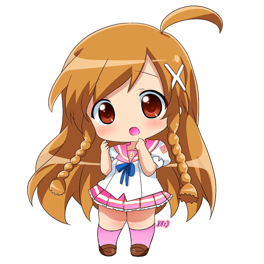Chibi girl png. By noreenmoreno on deviantart