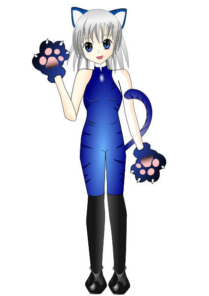 Anime clipart. Image of girl clip