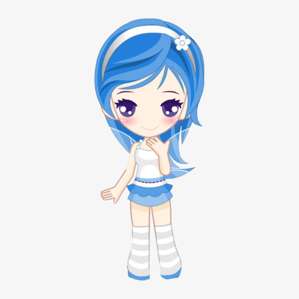 Anime clipart. Girl cartoon png image