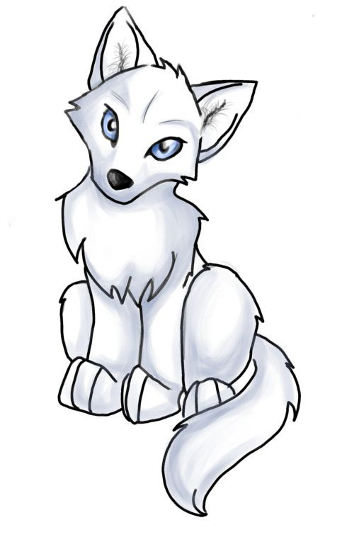 Anime clipart cute. Wolf pup easy best