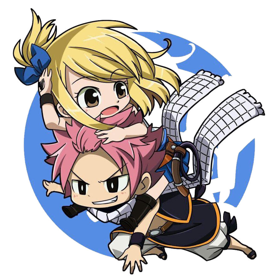 Anime clipart fairy tail. Render nalu chibi by