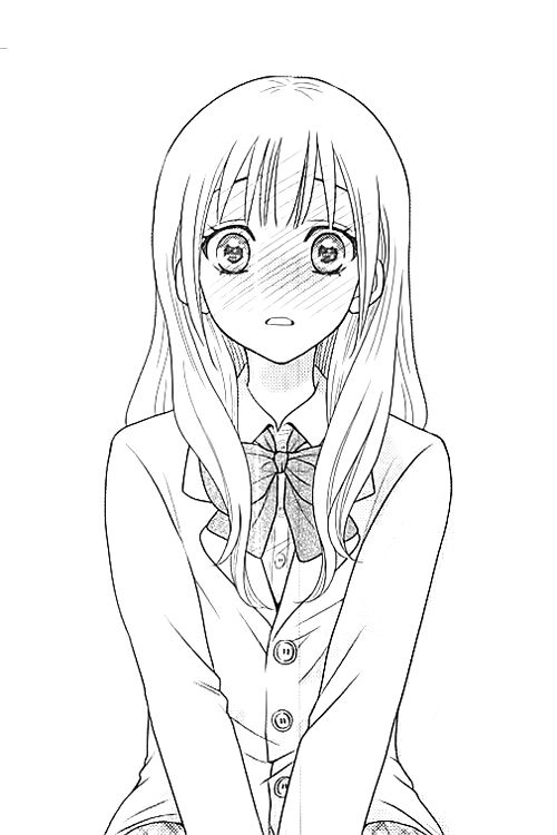 Anime clipart girl sketch. Best girls black