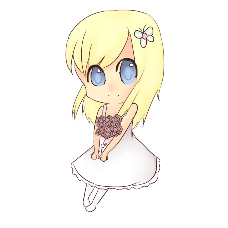 Anime clipart girl sketch. Free chibi download clip