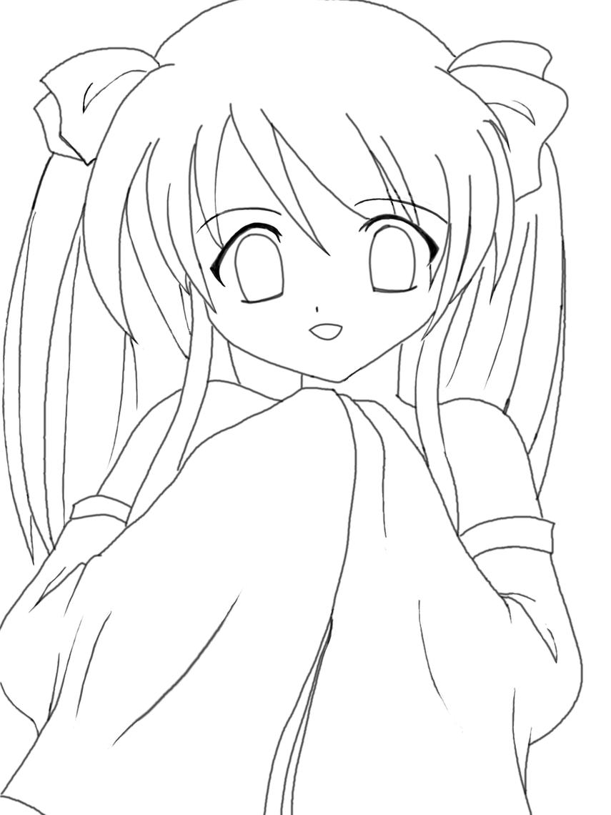 Anime clipart girl sketch. Drawing at getdrawings com