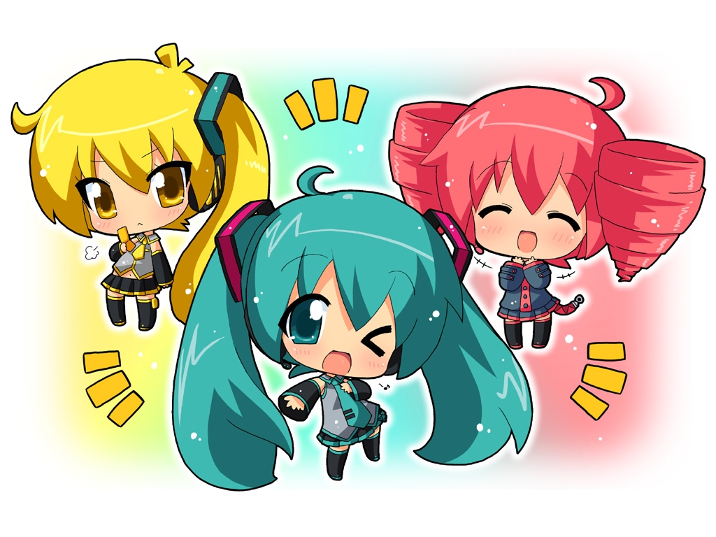 Anime clipart vocaloid. Characters chibi hd wallpaper
