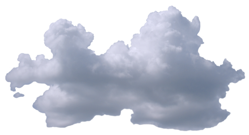 Anime clouds png. Wide puffy cloud v