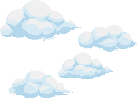 Anime clouds png. Pastel cute kawaiii blue