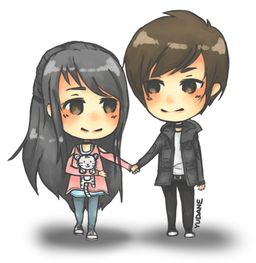 Cute couple png. Anime love image mart