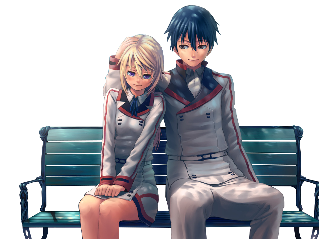 Anime couple png. Render by animerenders on