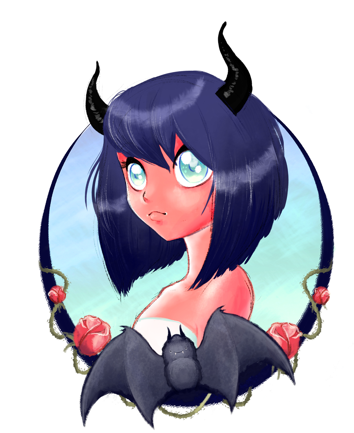 Anime devil png. Demon girl on behance