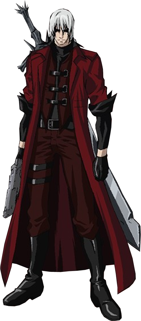 Anime devil png. Dante may cry by