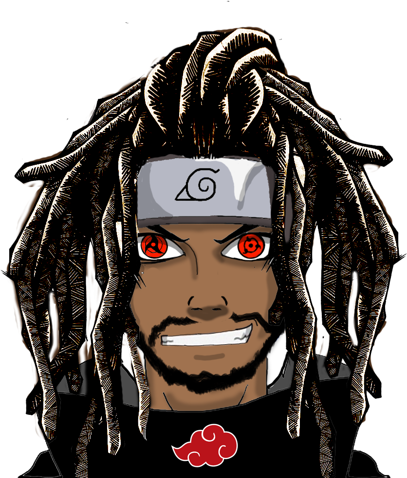 Download hd black characters. Anime dreads png banner freeuse stock