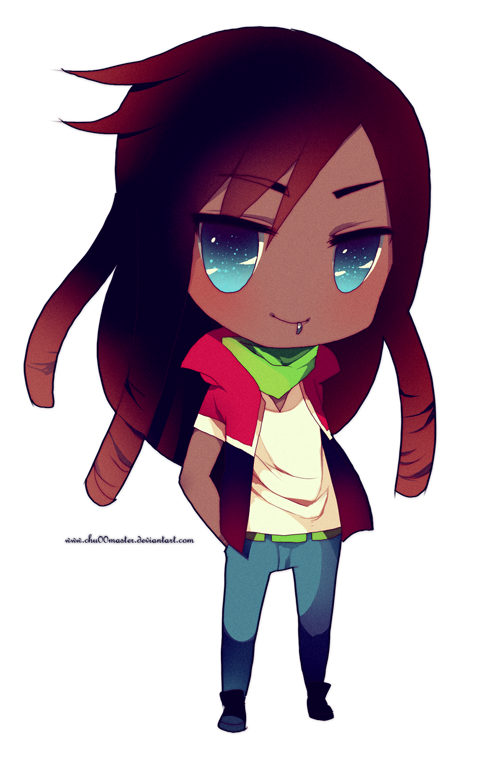 Chibi commish kaden by. Anime dreads png banner library library
