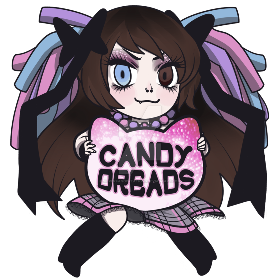 Anime dreads png. Candy logo by silverfangcreations