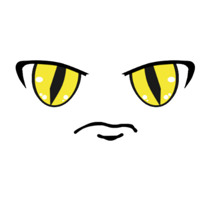 Anime eyes png. Yellow angry roblox