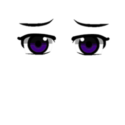 Anime eyes png transparent. Purple roblox