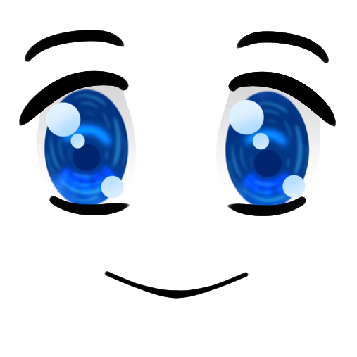 Anime face png. Image blue happy blox