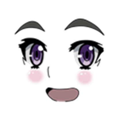 Anime face png. Roblox
