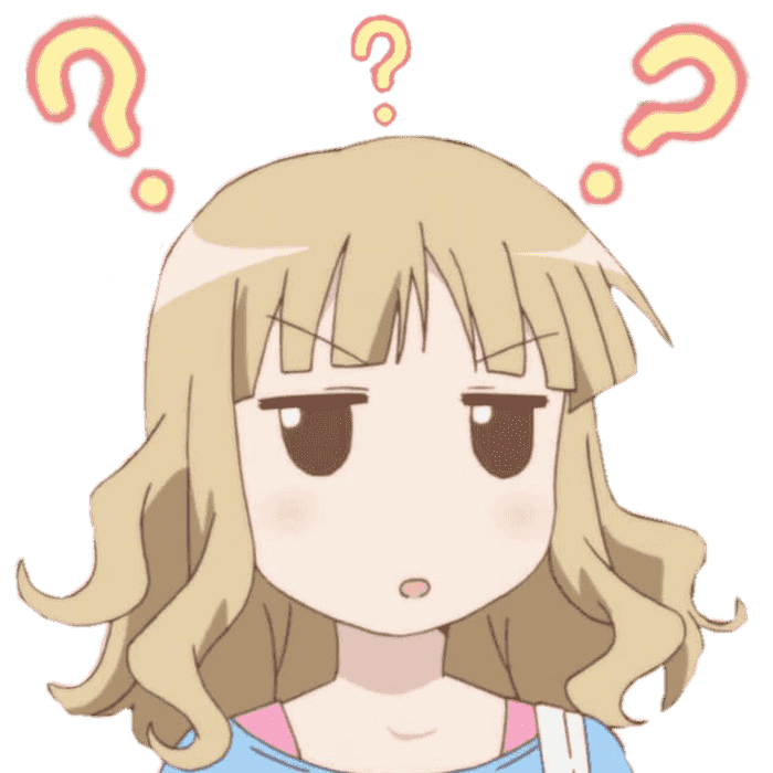 Confused png image. Anime girl
